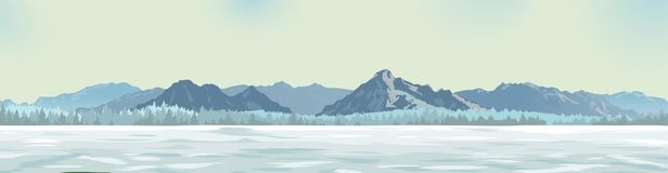 Άσπρο ξέφωτο στα πλαίσια των βουνών στοκ φωτογραφία