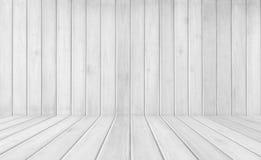 Άσπρο ξύλινο κενό υποβάθρου σύστασης για το σχέδιο στοκ εικόνα