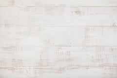 Άσπρο ξύλινο υπόβαθρο με τη διαστημική τοπ άποψη αντιγράφων υψηλής ανάλυσης Στοκ Εικόνα