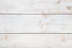 Άσπρο ξύλινο υπόβαθρο σύστασης με τη υψηλή ανάλυση Τοπ διάστημα αντιγράφων άποψης στοκ φωτογραφία