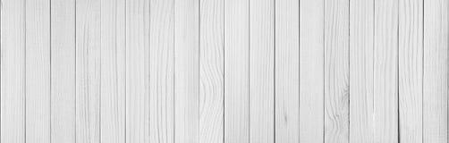Άσπρο ξύλινο υπόβαθρο σύστασης σανίδων Στοκ Εικόνες