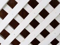 Άσπρο ξύλινο χώρισμα Στοκ εικόνες με δικαίωμα ελεύθερης χρήσης