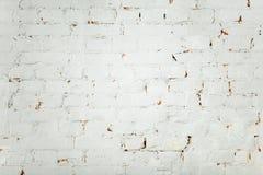 Άσπρο παλαιό υπόβαθρο τουβλότοιχος στοκ φωτογραφίες