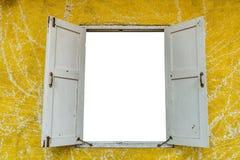 άσπρο παράθυρο τοίχων κίτρινο Στοκ εικόνες με δικαίωμα ελεύθερης χρήσης