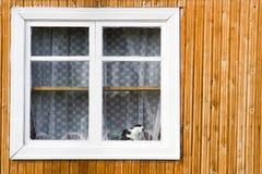 άσπρο παράθυρο Στοκ Φωτογραφίες