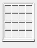 άσπρο παράθυρο Στοκ Εικόνες