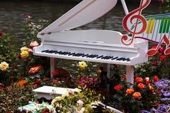Άσπρο πιάνο Στοκ Εικόνα