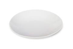 Άσπρο πιάτο στοκ φωτογραφίες