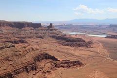 Άσπρο πλαίσιο στο εθνικό πάρκο Canyonlands Utah Στοκ εικόνα με δικαίωμα ελεύθερης χρήσης