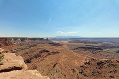 Άσπρο πλαίσιο στο εθνικό πάρκο Canyonlands Utah Στοκ Εικόνες