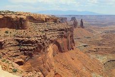 Άσπρο πλαίσιο στο εθνικό πάρκο Canyonlands Utah Στοκ φωτογραφία με δικαίωμα ελεύθερης χρήσης