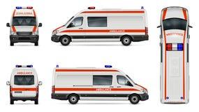 Άσπρο πρότυπο αυτοκινήτων ασθενοφόρων Στοκ Εικόνες
