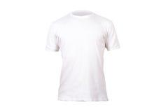 Άσπρο πρότυπο μπλουζών στοκ φωτογραφία με δικαίωμα ελεύθερης χρήσης