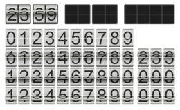 Άσπρο πρότυπο ρολογιών κτυπήματος με τους αριθμούς στις διαφορετικές καταστάσεις κτυπήματος για τη μεμονωμένη οργάνωση πινάκων βα Ελεύθερη απεικόνιση δικαιώματος