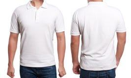 Άσπρο πρότυπο σχεδίου πουκάμισων πόλο Στοκ εικόνα με δικαίωμα ελεύθερης χρήσης