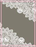 Άσπρο πλαίσιο δαντελλών Στοκ Φωτογραφία