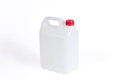Άσπρο πλαστικό κάνιστρο στοκ εικόνες με δικαίωμα ελεύθερης χρήσης