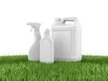 Άσπρο πλαστικό μπουκάλι, τρισδιάστατη απόδοση Στοκ Εικόνες