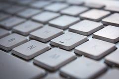 Άσπρο πληκτρολόγιο υπολογιστών με τα κλειδιά Στοκ Εικόνα