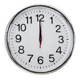 Άσπρο ρολόι τοίχων Στοκ Εικόνες