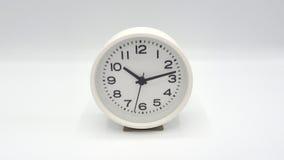 Άσπρο ρολόι Στοκ εικόνες με δικαίωμα ελεύθερης χρήσης
