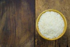 Άσπρο ρύζι σε ένα κύπελλο Στοκ Εικόνα
