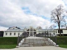 Άσπρο σανατόριο, Λιθουανία στοκ φωτογραφίες