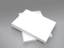 Άσπρο σαφές έγγραφο γραφείων για το γκρίζο υπόβαθρο Στοκ Φωτογραφία
