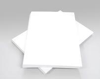 Άσπρο σαφές έγγραφο γραφείων για το γκρίζο υπόβαθρο Στοκ Φωτογραφίες