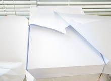 Άσπρο σαφές έγγραφο γραφείων A4 στο μέγεθος Στοκ Φωτογραφίες