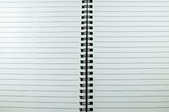 Άσπρο σημειωματάριο Στοκ Εικόνες