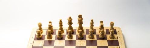 Άσπρο σκάκι κομματιών Στοκ Εικόνα