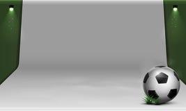 Άσπρο σκηνικό ποδοσφαίρου διανυσματική απεικόνιση