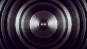 Άσπρο στρογγυλό κυκλικό υπόβαθρο κινήσεων βρόχων σηράγγων VJ κυμάτων V1 απεικόνιση αποθεμάτων