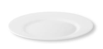 Άσπρο στρογγυλό πιάτο στοκ φωτογραφία με δικαίωμα ελεύθερης χρήσης