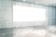 Άσπρο συγκεκριμένο εσωτερικό πινάκων Στοκ Εικόνα