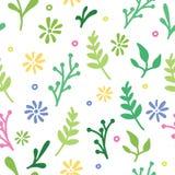 Άσπρο συρμένο χέρι floral σχέδιο Στοκ φωτογραφία με δικαίωμα ελεύθερης χρήσης