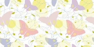 Άσπρο σχέδιο με την πεταλούδα ελεύθερη απεικόνιση δικαιώματος