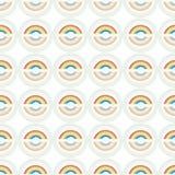 Άσπρο σχέδιο με το ουράνιο τόξο και τον κύκλο απεικόνιση αποθεμάτων