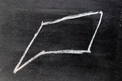 Άσπρο σχέδιο χεριών κιμωλίας στην τετραγωνική λεκτική μορφή φυσαλίδων στοκ εικόνες