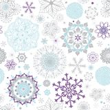 Άσπρο σχέδιο Χριστουγέννων κρητιδογραφιών άνευ ραφής διανυσματική απεικόνιση