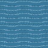 Άσπρο σχέδιο σχοινιών Στοκ Φωτογραφία