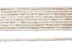 Άσπρο σχοινί Στοκ Φωτογραφία