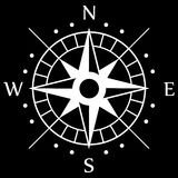 Άσπρο σύμβολο πυξίδων Στοκ Εικόνες