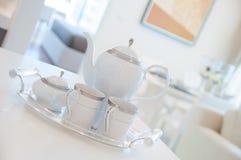 Άσπρο σύνολο καφέ στοκ εικόνα με δικαίωμα ελεύθερης χρήσης