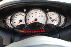 Άσπρο ταχύμετρο με την περιστροφή/λεπτό Στοκ φωτογραφία με δικαίωμα ελεύθερης χρήσης