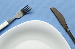 Άσπρο τεμάχιο πιάτων Στοκ Φωτογραφία