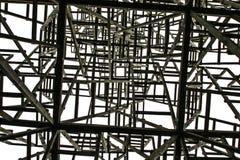 Άσπρο τετράγωνο στο υπόβαθρο των χαοτικών δομών Στοκ Φωτογραφία