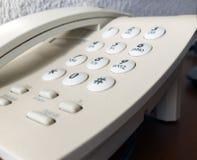 Άσπρο τηλέφωνο Στοκ Εικόνα