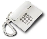 Άσπρο τηλέφωνο Στοκ φωτογραφία με δικαίωμα ελεύθερης χρήσης